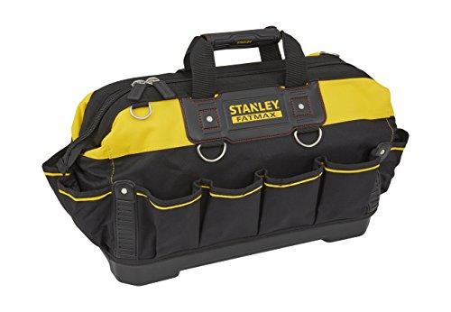Stanley FatMax Werkzeugtasche (18 Zoll, 49 x 26 x 10 cm, wassserdichter Boden, verstärkte Nähte, ergonomischer Gummihandgriff, robuster Schultergurt, 600 Denier Nylon) 1-93-950