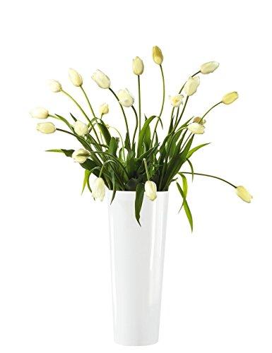 ASA Vase, Stein, Weiß, 18x18x46 cm