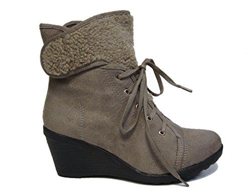 dbdk ankle boots DbDk Fashion Wedge Fur Work Boots
