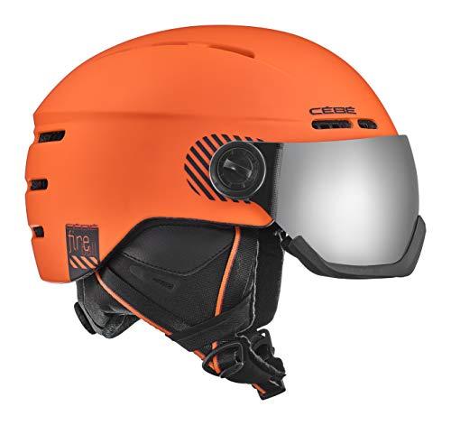 Cébé Fireball skihelm, unisex, volwassenen, mat oranje, 59-61 cm