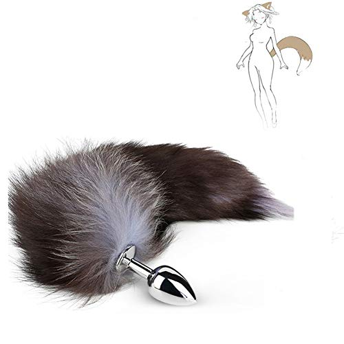 Love Games for Experienced Users T-Shirt Metal Artificial Fox Tail Anales Trainer Cosplay Plug for Beginners and Advanced Users Gray By Vottek