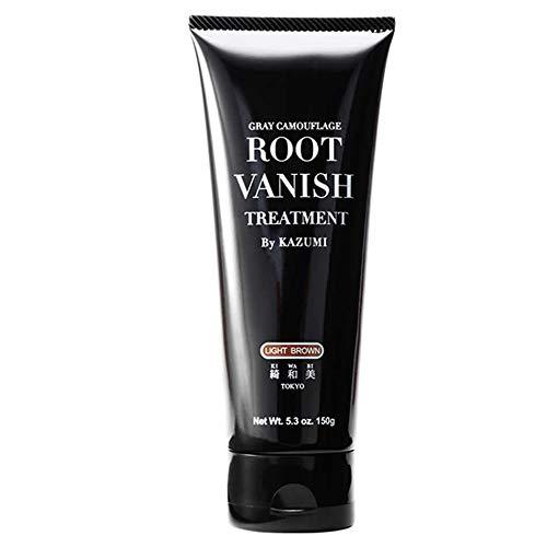 綺和美(KIWABI)RootVanish白髪染めライトブラウンヘアカラートリートメント女性用男性用100%天然成分無添加22種類の植物エキス配合
