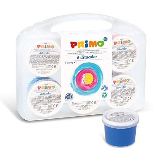 PRIMO- Tempera a Dita, Multicolore, 221TD100SP