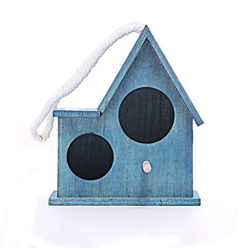 JKXWX Gabbia per Uccelli Giardino in Legno Gabbia for Uccelli Casa Balcone Uccello Decorazione Uccello Uccello Pappagallo Gabbia da Parete Ciondolo Bird House Gabbia Voliera (Color : A, Size : L)