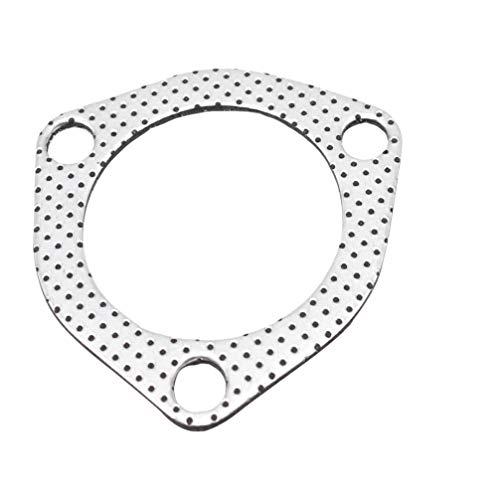 Wakauto 1Pc Junta de Escape Sello Triángulo Colector Metal para Reparación Vehículo Automóvil Plata (Triángulo Diámetro Interior 63 Mm)
