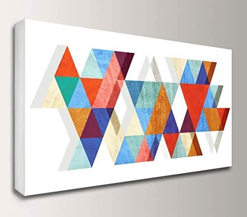 Geometric Mid-Century Canvas Wall Art -