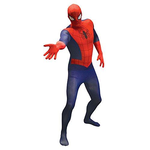 Morphsuits Costume da Spiderman Basic, Medium - 4'7-5'2 (138cm - 158cm)
