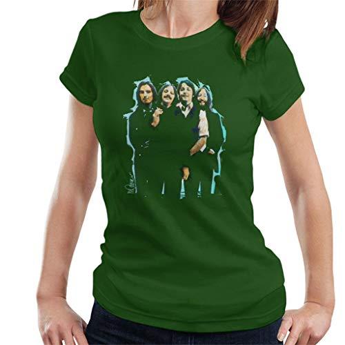 VINTRO The Beatles Bowl - Camiseta de pelo largo para mujer, diseño de retrato original de Sidney Maurer