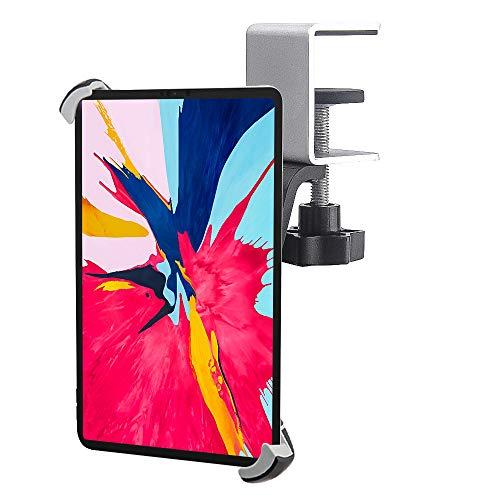 EXSHOW 卓上取り付けタブレットマウント 耐久的なアルミ合金製クランプスタンドホルダー 360度回転 対応機種:iPad Pro 12.9 11/ Air / 1/2/3/4/5、Microsoft Surface Pro、Samsung Galaxy、Sony、Google Nexus、Proなど