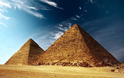 KUANGJING Rompecabezas Puzzle 1000 para Adultos Juegos Pirámide Egipcia Cielo Azul Juegos Infantiles Juguetes Familiar para Niños