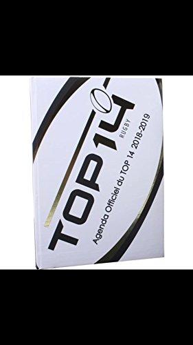 Agenda escolar (años rugby 12x 17cm Premium Top 14–blanco 2018–2019