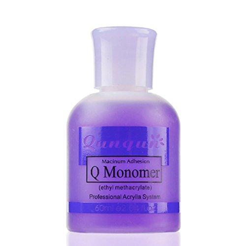 Dolloress Beauty Nail Belleza Uña? QUNQUN 60ml Purple Professional Nail Polish Maximum Adhesion Q Monomer Acrylic System Nail Crystal Liquid