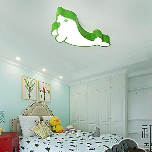 Home Creative Early Learning Plafonniers Maternelle Garçons Et Filles Dessin Animé Seal Éclairage Led Vert Lampe De Plafond