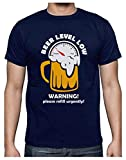Green Turtle T-Shirts Camiseta para Hombre - Beer Level Low - Perfecto Regalo para Amantes de la Cerveza Small Azul Oscuro
