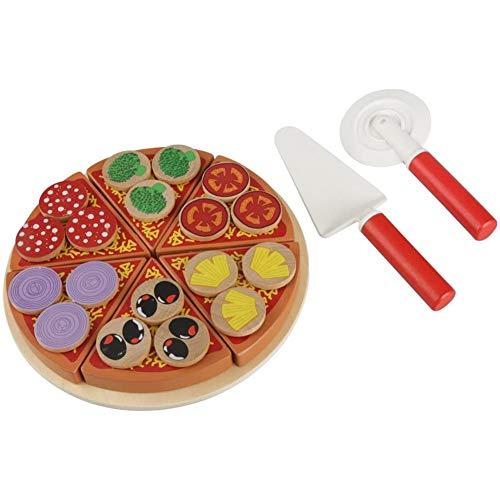 Speel Keuken Cutting Pizza Cutter Pizza Houten Rolling Educatief speelgoed voor kinderen,Red