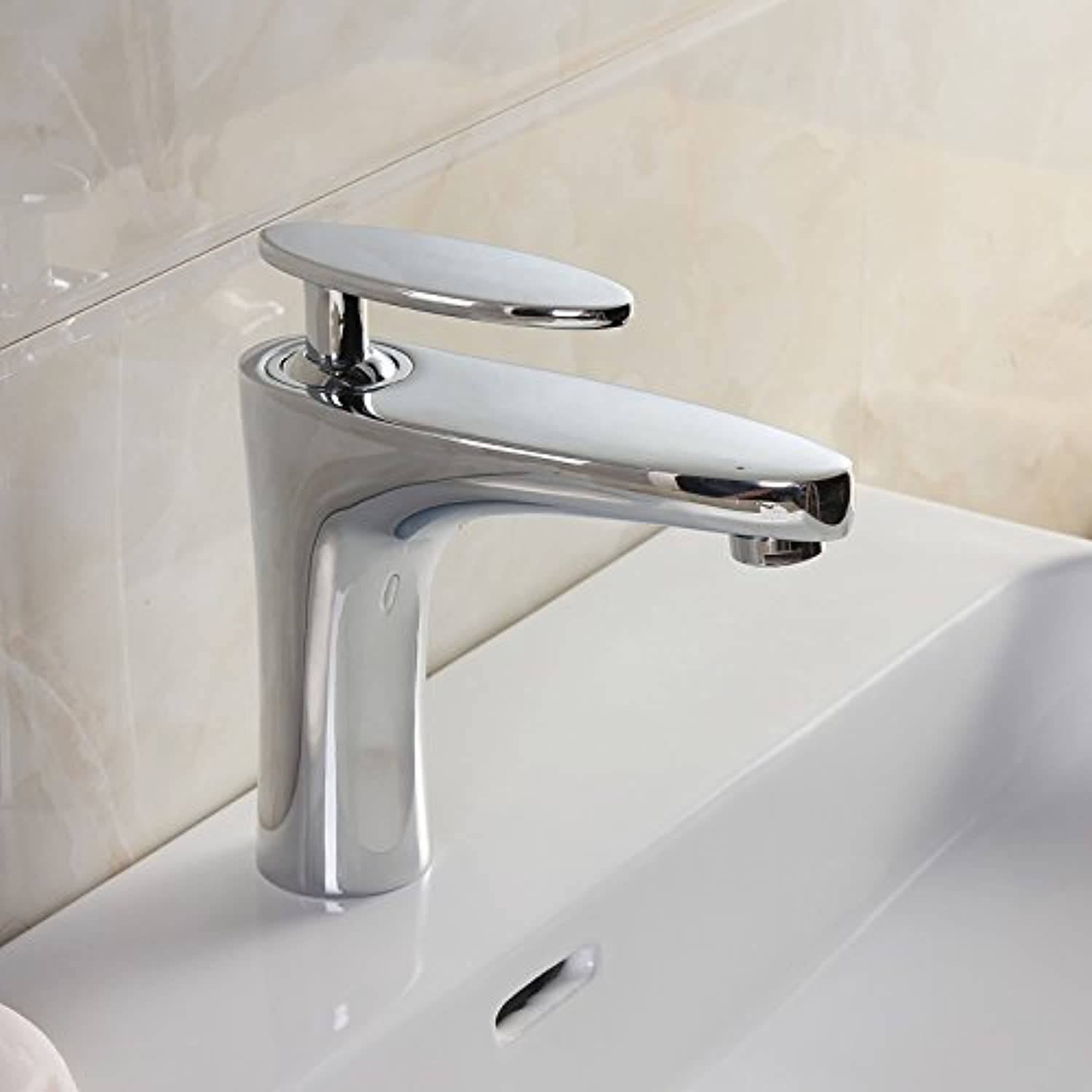 Von YIRUI basin Taps Jade Leaf basin faucet all copper hot and cold water sink basin wash basin faucet