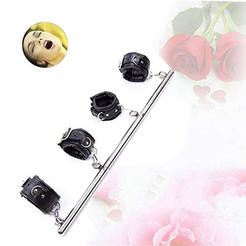 Stainless Steel Boom Holder with Leather Wrist for Pole Dance
