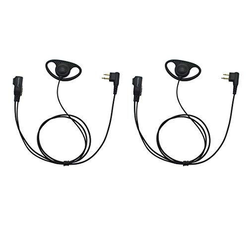 GoodQbuy Two way radio G Shape Clip-Ear Headset Earpiece with PTT For Binatone Action 950 1000 Terrain 150 200 550 750 650 Expedition 1-pin GoodQbuy® HS-G3-BA