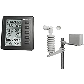 Ambient Weather WS-1075 Wireless Home Weather Station with Atomic Time, Temperature, Humidity, Wind Speed and Rain