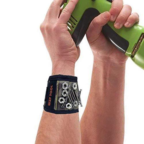 [2020 NEW]Bracelets magnétiques, meilleurs cadeaux pour hommes,10 puissants aimants en néodyme pour tenir les outils, idées cadeaux pour hommes,Petit ami, femmes, bricolage et anniversaire