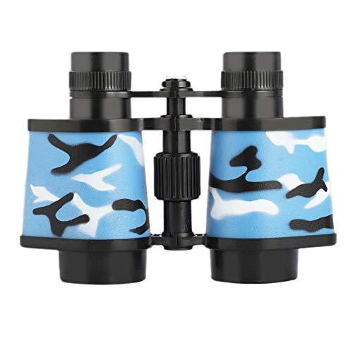 TWW Binoculares de protección Ocular de Alta definición de Alta Potencia para niños telescopio, Juguete de Lupa para niños y niñas,Azul