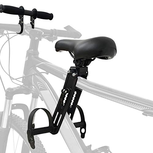 Souarts Children's Bicycle Seat For Mountain Bikes From 2 To 5 Years Old Up To 48 Pounds Adjustable Front Child Bicycle Handlebar Front Mounted Bicycle Seats Portable Detachable