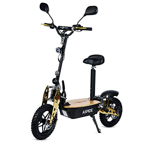 ECOXTREM Aspide Madera - Patinete/Scooter eléctrico Dos Ruedas, con sillín, Plegable, luz LED Frontal, Panel LCD, Motor 2000W, Velocidad hasta...