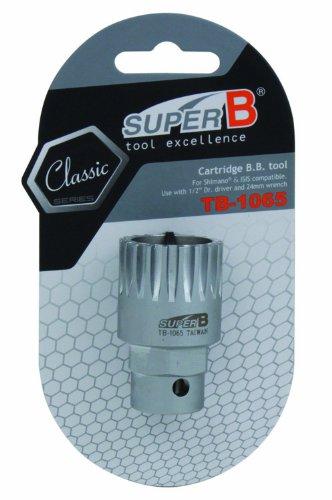 SuperB TB-1065 - Extractor de ejes de pedalier, color gris