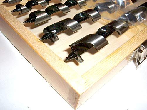 Spar-Set: 5 Stück Schlangenbohrer Set 8 bis 16 mm extra lang 460 mm Länge. Scharfe Spitze und Schneide, Sechskantansatz, für Bohrmaschine und Akkuschrauber. Sortiment Holzbohrer, Balkenbohrer. Bewährte Qualität.