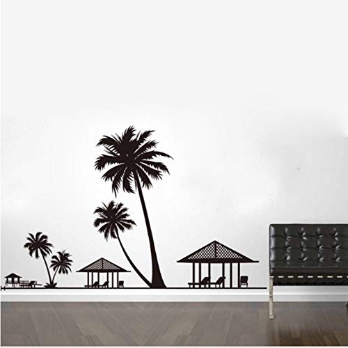 Zfkdsd Urlaub Beach Palms Coconut Tree Wandaufkleber Wohnzimmer Wohnzimmer Schlafzimmer Wohnkultur Pavillon Stühle Wandbild Wandaufkleber Poster