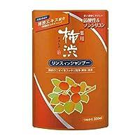 熊野油脂 薬用柿渋リンスインシャンプー つめかえ用 350ml(医薬部外品)