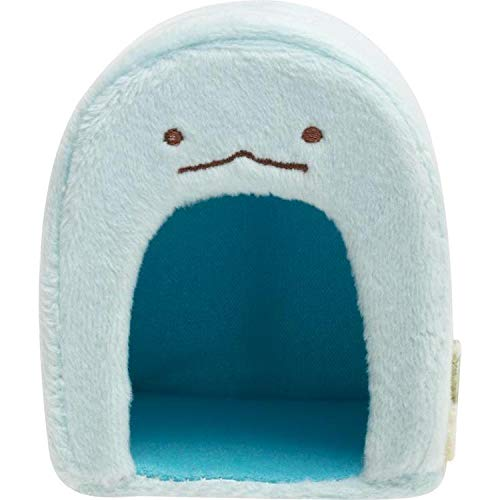 サンエックス すみっコぐらし てのりぬいぐるみ とかげハウス 約80×65×65mm BLUE MX98201