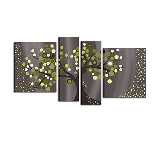 Cuadro Pintado A Mano abstracto con árbol cuadros para salón 100 % Made in Italy – Tores