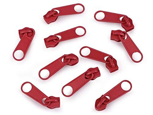 10pc Alto Rischio Cursore Rosso Per Nylon Cerniere 5mm Per il Tipo di Pol, Sacchetto di Chiusura, Accessori Cucito, Sacchetto Accessori, Cursori E Altre, Merceria