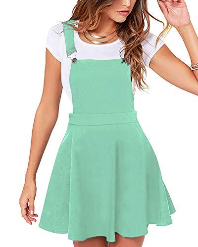 YOINS Rock - Minifalda para mujer Kawaii A Line, minifalda, para mujer, vestido de patinaje, color verde menta, M