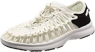 KEEN Women's Uneek O2-W Sandal, White/Black, 11 M US