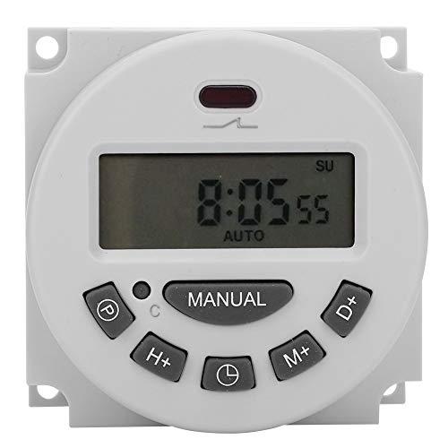 Weißer Timer-Schalter, Timer-Steuerschalter, stabiler LCD-Bildschirm für Werbung Leuchtkästen Lampenlicht-Rundfunkgeräte Elektrogeräte