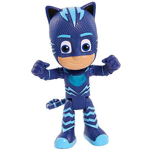 PJ Masks- Gatuno Súper Figura con Voz, Color Azul (Bandai 24586)
