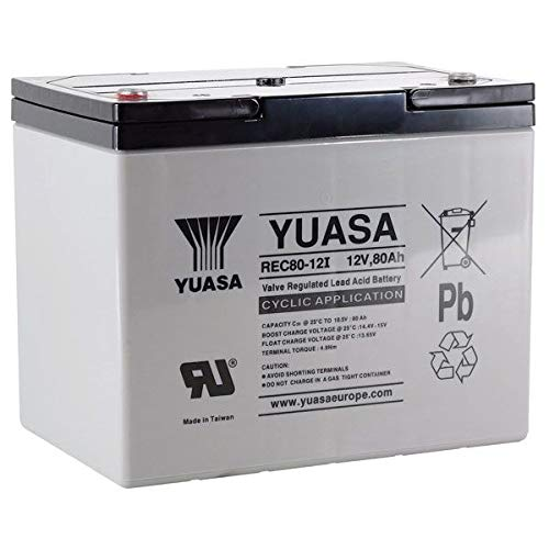 Yuasa REC80-12i 12V 80Ah Hoge performantie Heavy Duty Cyclic Mobility Accu