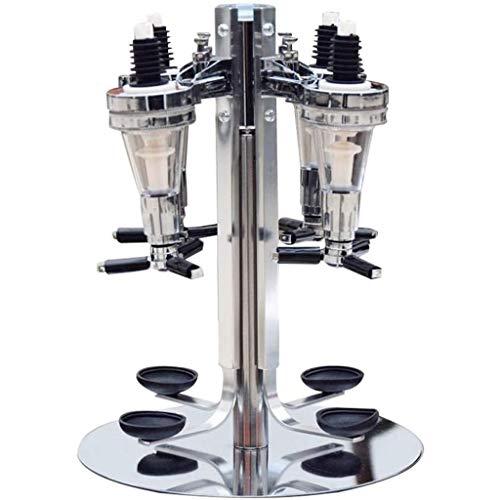 Gedraaide Mounted 4-station Liquor Wine Dispenser, Machine Bar Butler Drinken Pourer Bar van het huis Hulpmiddelen for…