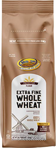 Shibolim, Extra Fine, Stone Ground Whole Wheat Flour, 3lb Resealable Bag, 100% Whole Grain, Premium Quality
