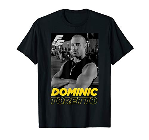 Fast & Furious Dominic Toretto Portrait Logo T-Shirt