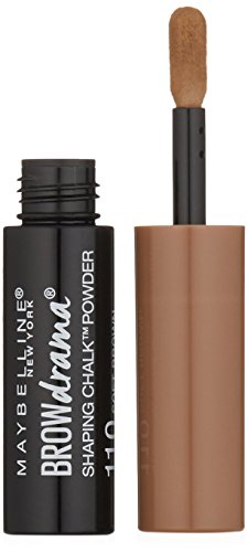 Maybelline New York Brow Drama Shaping Chalk Powder, Soft Brown, 0.035 fl. oz.