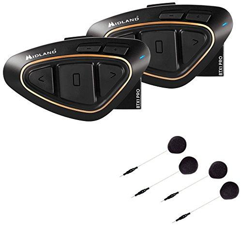 MIDLANDBT X1PRO Hi-Fi ツイン C1230.14 2人ツーリングライダー・ご夫婦・ソロライダーにおすすめ ワイドFMラジオ対応W89xH51xD21(mm)