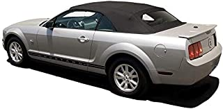 AutoBerry Ford Mustang Convertible Top (2005-2014) Complete Factory Style Heated Glass Window in Sailcloth Vinyl Black