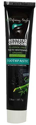Organic Activated Charcoal Toothpaste With Bamboo - Mint...