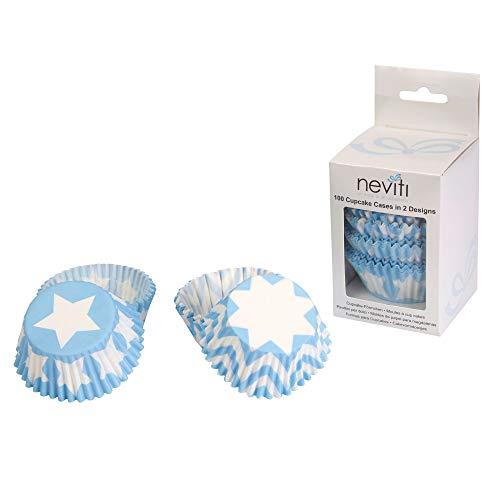 Neviti Little Star Blue-Cupcake Cases-100 Pack Moldes