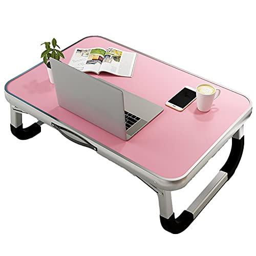 Escritorio Pequeño Escritorio de cama de portátil con mango de bandeja portátil para la cama de la cama de la cama de la lectura de la mesa de sofá para el sofá Sofá del piso escribiendo Mesas Plegabl