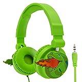 Kids Earphones, Moear Cartoon Animal Headphones for Child with Dinosaur Adjustable Headband, Stereo