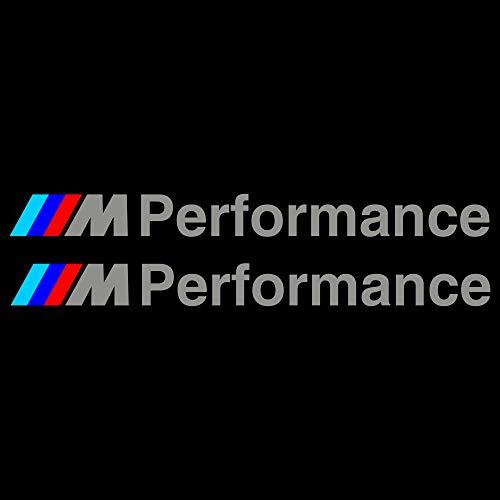 Autodomy Pegatinas Performance Pack 2 Unidades para Coche. (Plata)